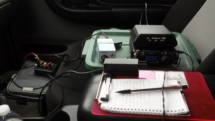 """A view of the """"cockpit"""" of my truck."""