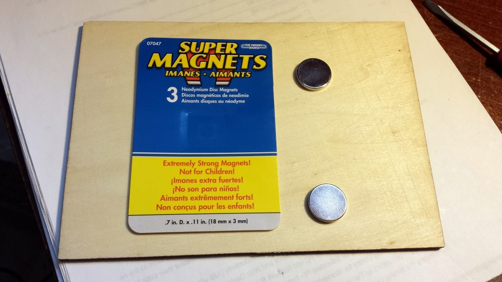 Super magnets used for the MS2 straight key magnetic mount. Boy, these things are powerful!