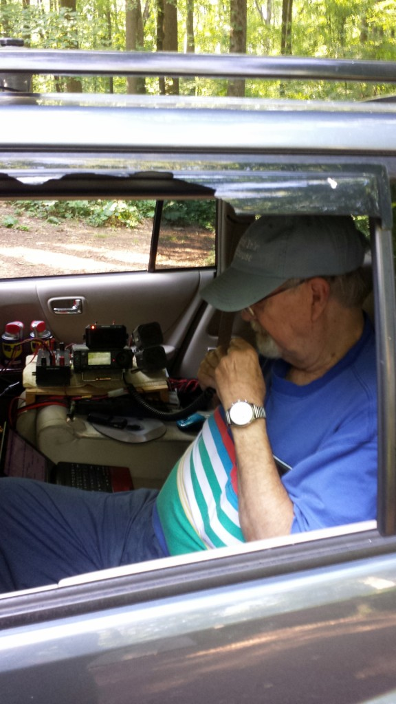 Ed K3YTR operating on 6 meters and 2 meters from his car