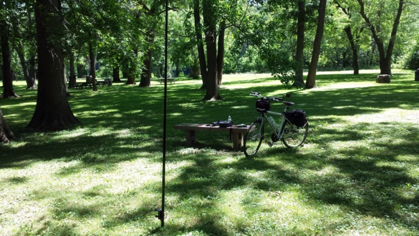 My operating position along the Perkiomen Trail