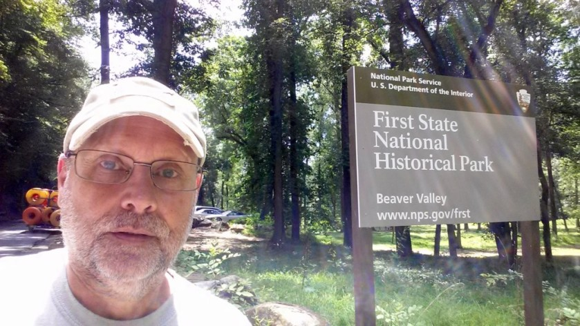 Obligatory selfie at First State National Historical Park