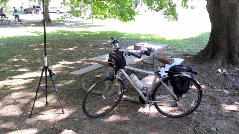 My setup in the Betzwood Picnic Area in Valley Forge National Historical Park.