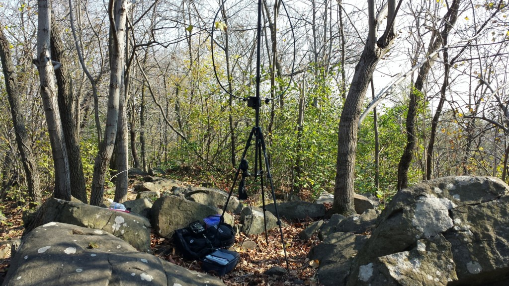 My operating position on top of Monocacy Hill