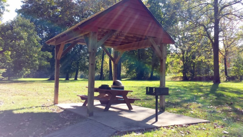 My pavilion at Towpath Park.
