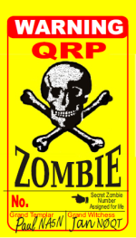 Official QRP Zombie Badge