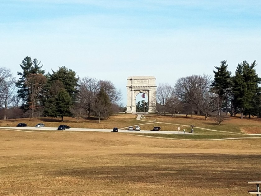 The National Memorial Arch in Valley Forge National Historical Park