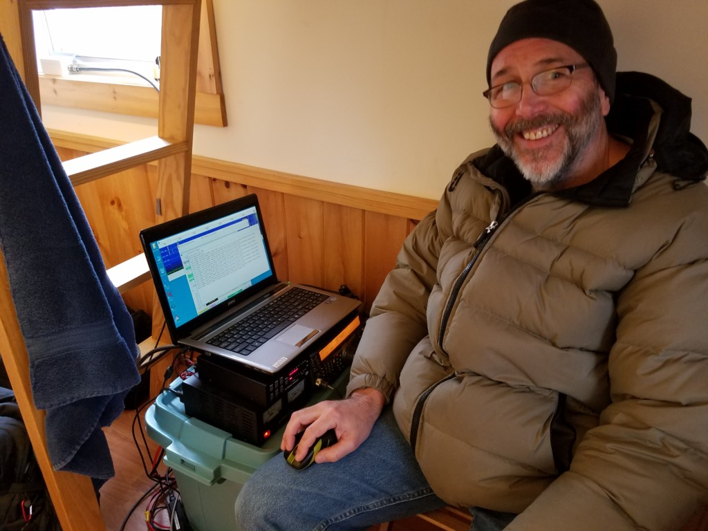 John NU3E operating JT modes from the cabin.