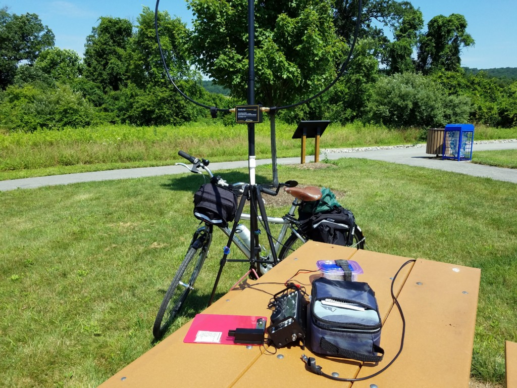 My setup at Exton County Park.