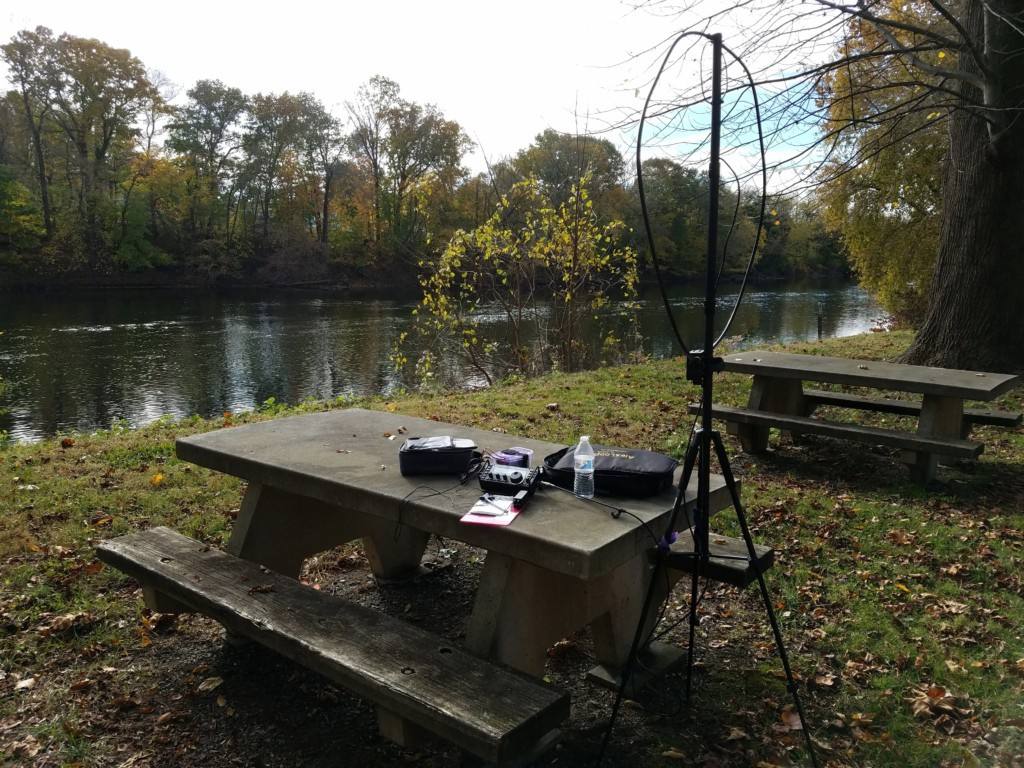 My operating location along the Schuylkill River.