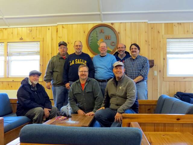 The Boschveldt QRP crew. Seated (L-R): K3YTR, WA8YIH and WA3WSJ. Standing (L-R): KB3SBC, WB3GCK, NK1N, NU3E and KA3RMM. (Photo by WA3WSJ)