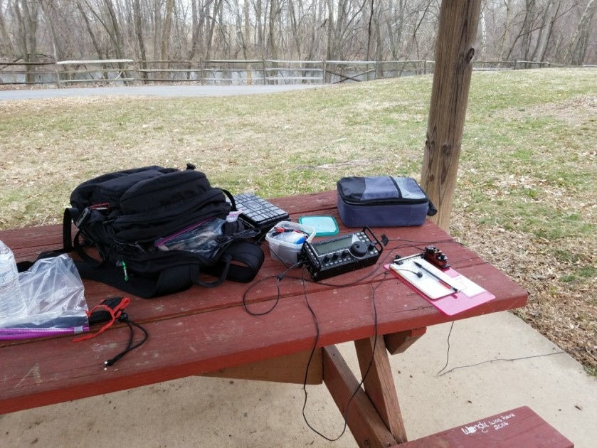 "My ""outdoor shack"" overlooking the Schuylkill River"