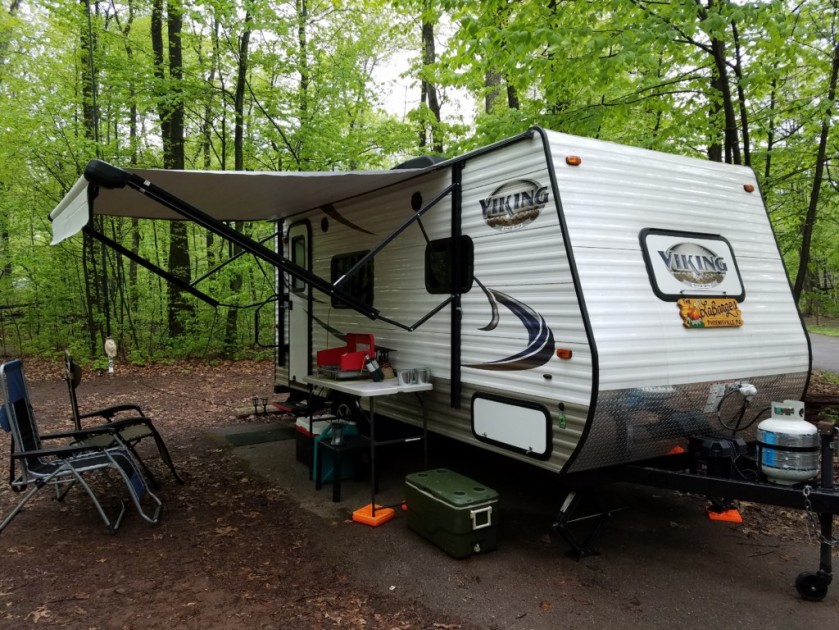 The QRP camper on a rainy weekend at French Creek State Park