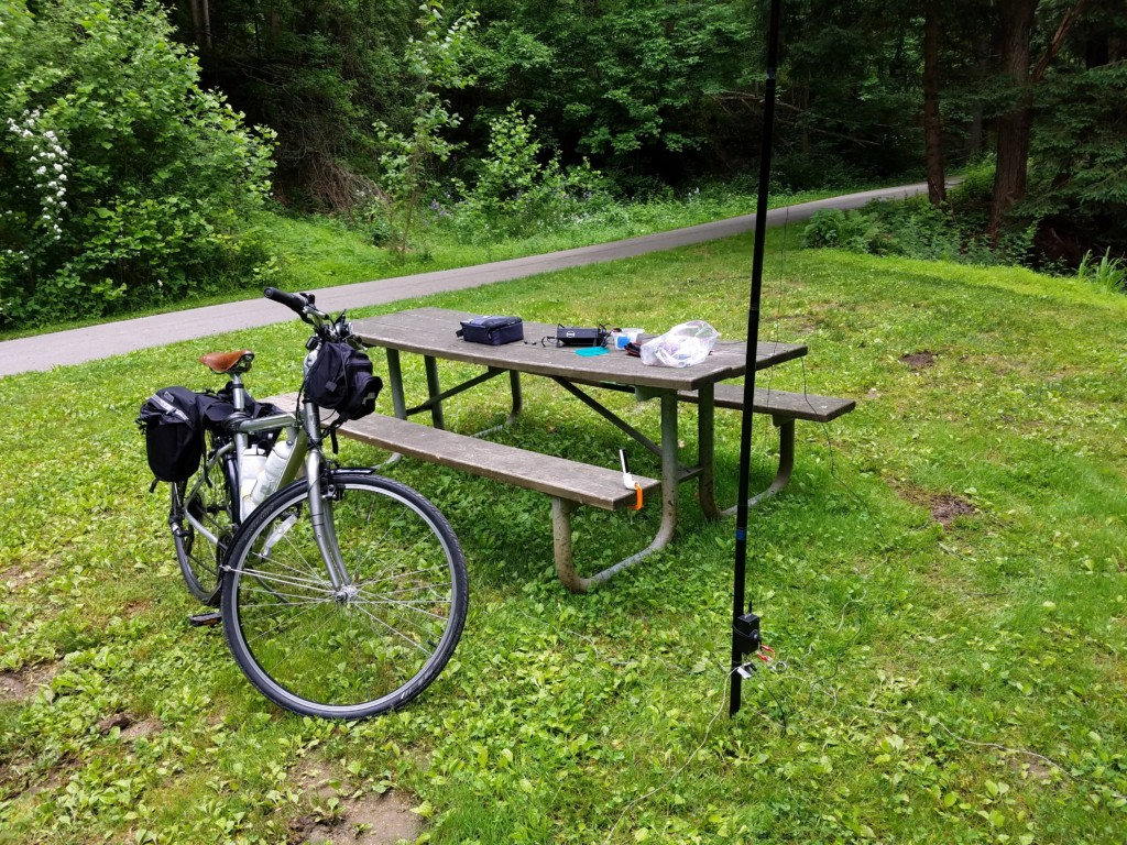My setup on the East Branch Brandywine Trail