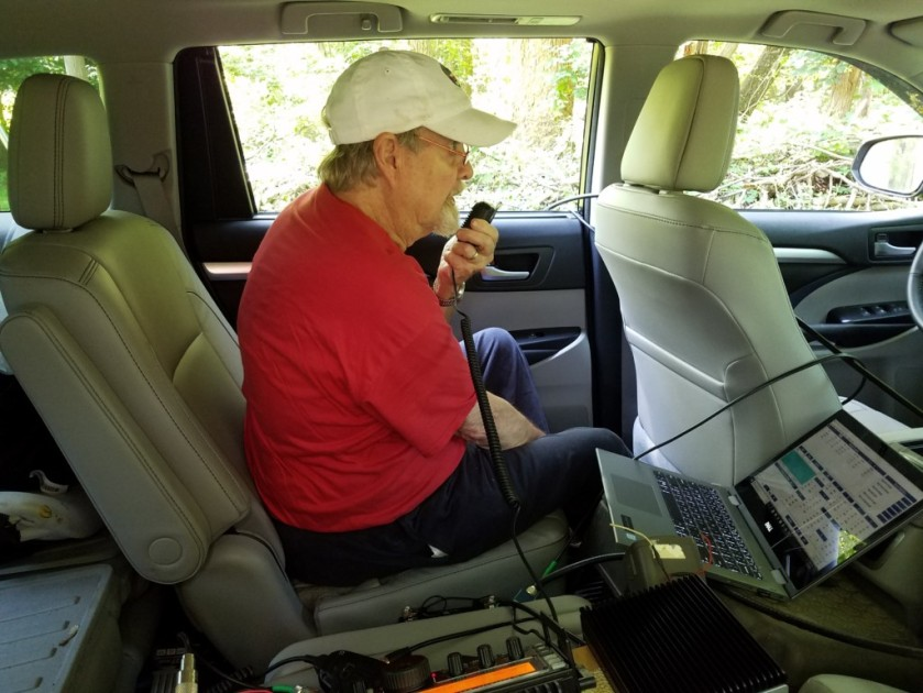 K3YTR working VHF/UHF during W3BQC Field Day 2018