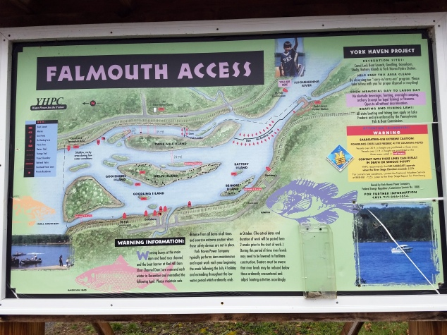 Falmouth Boat Launch information board