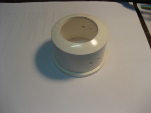 PVC end-cap drilled out