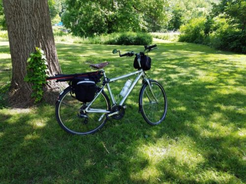 My bike loaded up for the trip home. No contacts today but at least I had a nice bike ride!