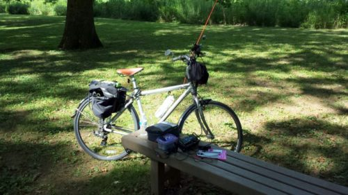 My operating location along the Perkiomen Trail