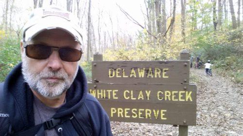 Obligatory selfie at the Delaware state line.