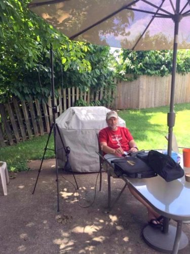 "Operating ""backyard-portable"" near Harrisburg, PA (Photo by Amy Duchesne)"