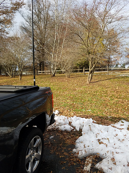 My antenna near the last vestiges of the nor'easter we had this week.