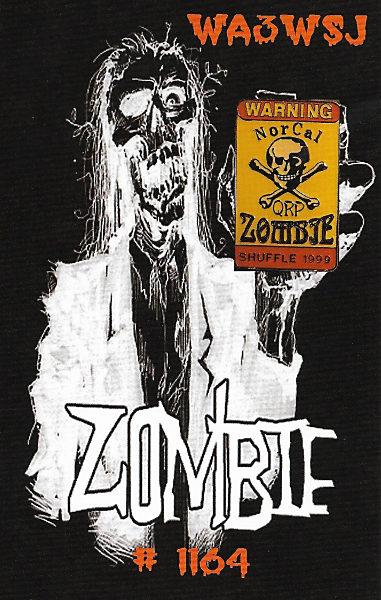 WA3WSJ Zombie Shuffle QSL Card