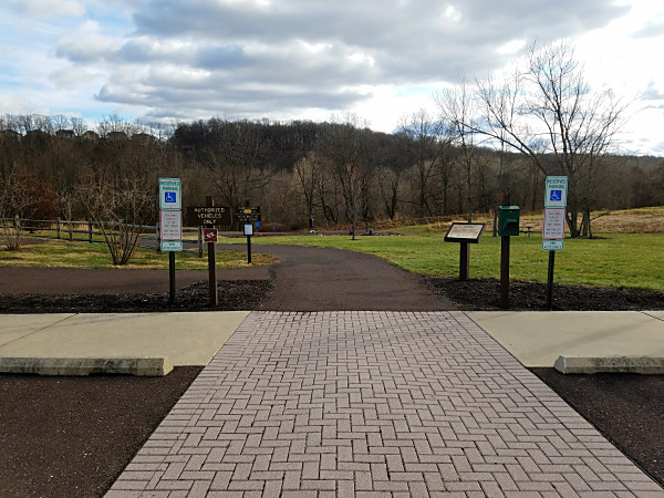 The walking path at Black Rock Sanctuary.