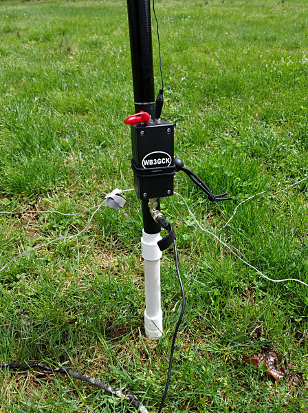 Antenna ground mount in use with my 19-foot vertical