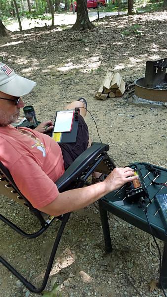 WB3GCK operating at Codorus State Park near Hanover, Pennsylvania