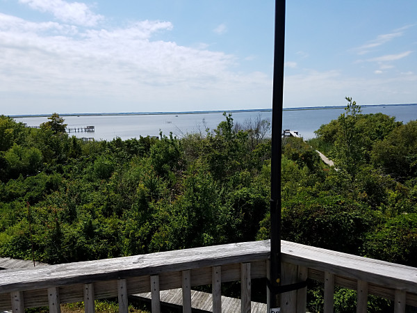 The view of Currituck Sound from my antenna