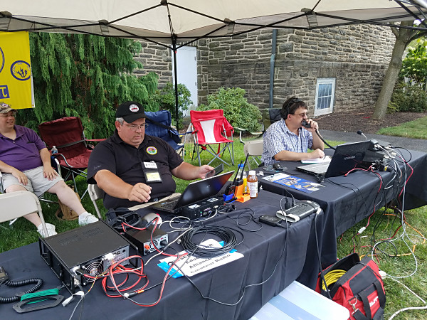 Special event station, W3Z, celebrating the 150th anniversary of the founding of Ursinus College. Walt KB3SBC (left) is operating FT8, while Bill KA3RMM is operating SSB.