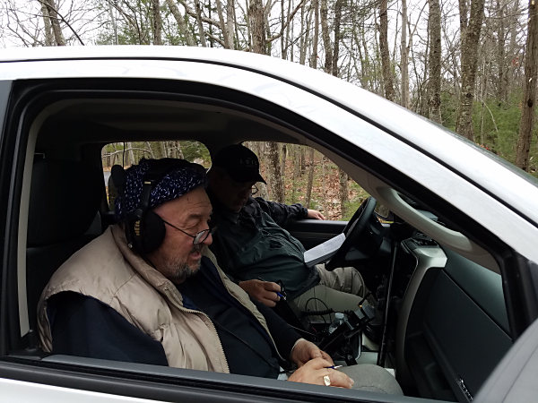 Ed K3BVQ (L) and Walt KB3SBC doing a POTA activation of the Delaware Water Gap National Recreation Area