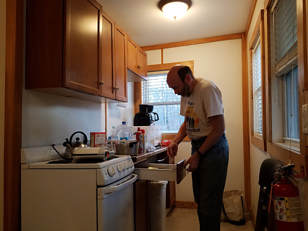 John NU3E making his amazing Belgian waffles for breakfast on Sunday morning