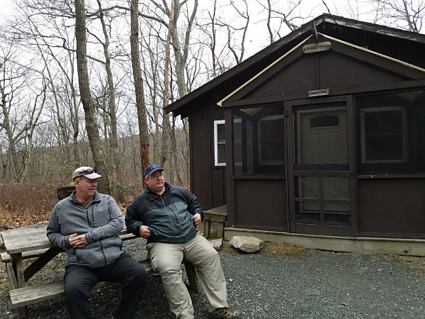 Ed WA3WSJ (L) and Walt KB3SBC outside the cabin