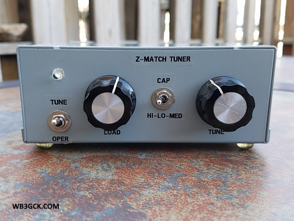 WB3GCK Z-Match Tuner - front panel
