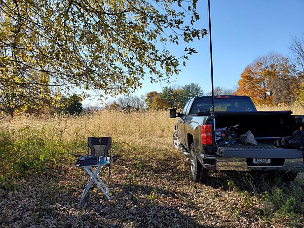 My setup for the November SKCC WES contest