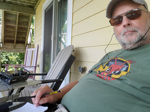 """WB3GCK operating in the NJQRP Club's Skeeter Hunt contest from the Outer Banks of North Carolina. This was also my """"shack"""" for the remainder of the week."""