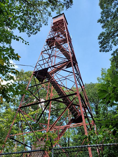 The Hopewell Fire Tower in William Penn State Forest, Hopewell Tract (POTA K-5481)