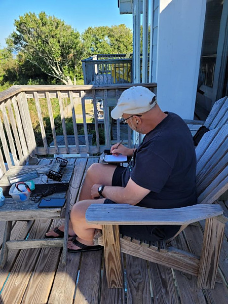 Operating from the deck in Corolla, North Carolina, on the Outer Banks