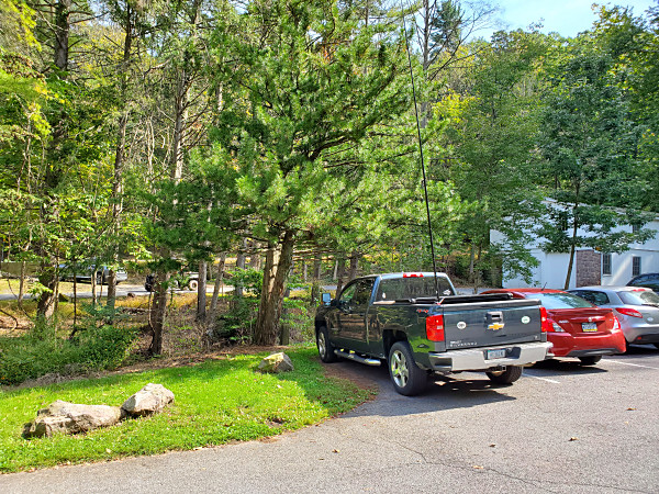 My parking spot in Nolde Forest State Park. The parking lot was crowded, but I managed to get a spot on the end.