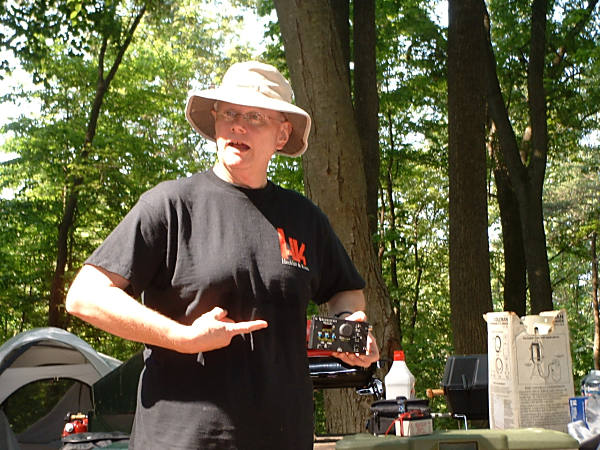 Rich Arland K7SZ at the Eastern Pennsylvania QRP Club (EPA-QRP) Field Day in 2005.